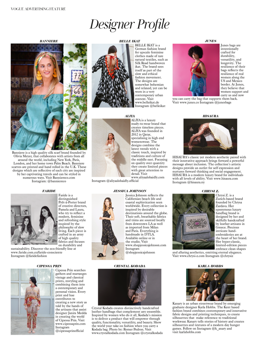 Chrysi Z  in British Vogue – September 2019 Issue